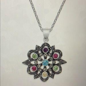 NWT Swarovski Marcasite pendant necklace